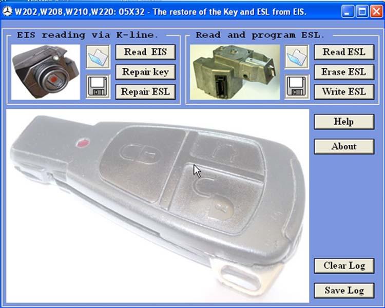 Программа для восстановления работоспособности ключей Mercedes старого
